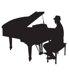 Piano man vector