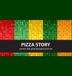 polka dot pattern set pizza story seamless vector image