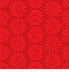 red seamless background ornamental pattern vector image vector image