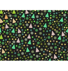 Seamless pattern with Christmas trees and snow vector image vector image