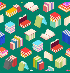stack of color books background pattern isometric vector image vector image