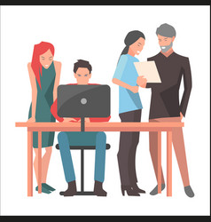 teamwork and startup discussions vector image vector image
