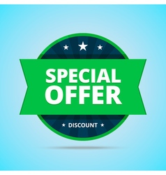 Special offer badge in flat style vector