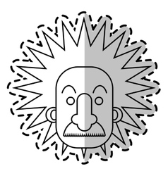Isolated einstein design vector image