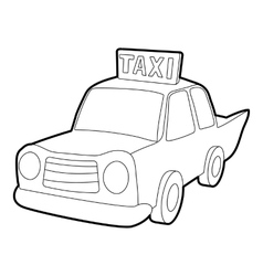 Taxi icon outline style vector