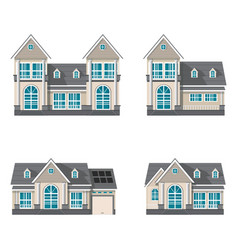 Modern family house isolated on white background vector