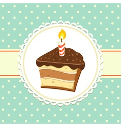 Piece of cake vector