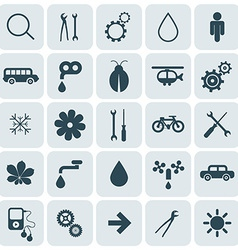 Flat design rounded square icons set vector