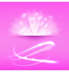 Abstract light burst pink vector