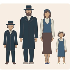 jewish family vector image
