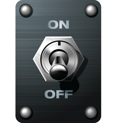 Toggle switch tumbler vector image