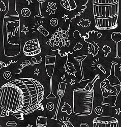 Wine sketch and vintage vector