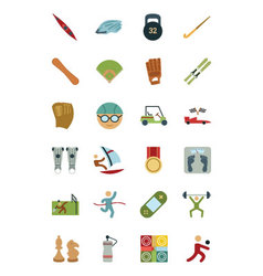 Sports and Games Colored Icons 4 vector image