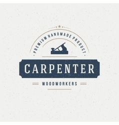 Carpenter design element in vintage style for vector