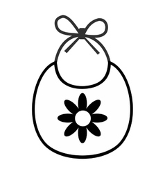 Baby bib simple icon vector