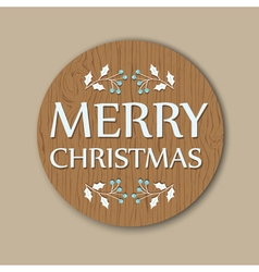Round christmas card vector