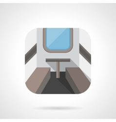 Train compartment flat color design icon vector
