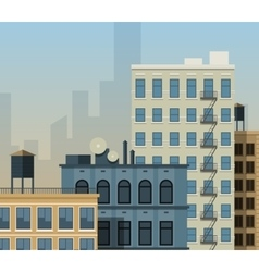 New york rooftops vector