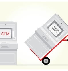 Atm machine is out of service isolated vector