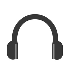 Music headphones device icon vector
