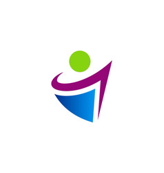 abstract people active logo vector image