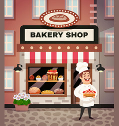 Bakery shop cartoon vector