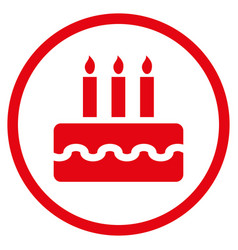 birthday cake rounded icon vector image
