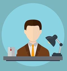 Businessman in office hard workingvecrtor vector