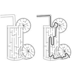 Easy lemonade maze vector