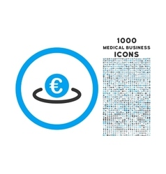 Euro Placement Rounded Icon with 1000 Bonus Icons vector image vector image