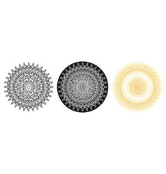 geometry mandala with star in centre for coloring vector image vector image