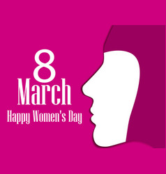 Happy womens day greeting card 8 march female vector