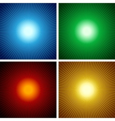 light rays vector image