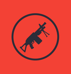 machine gun icon in circle vector image vector image