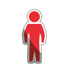 man silhouette standing still vector image vector image