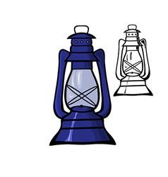Oil lamp vector