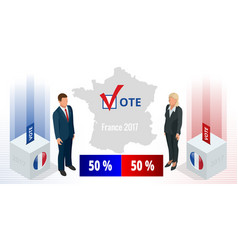 Presidential election in france 2017 ballot box vector