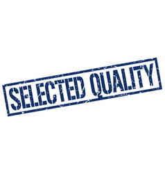 Selected quality stamp vector