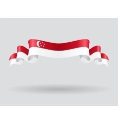 Singapore wavy flag vector