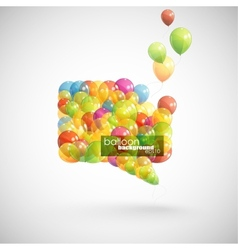 Speech bubble with flying balloons vector