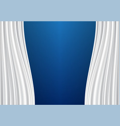 white curtain on blue design background vector image