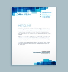 Abstract coporate business letterhead vector