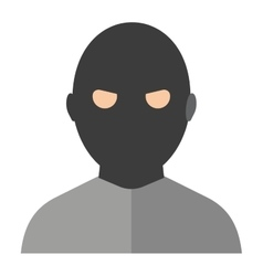 Criminal man vector image