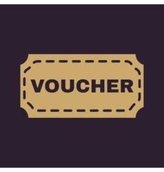 The voucher icon coupon and gift offer discount vector
