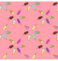 Ice cream popsicle frozen yogurt seamless pattern vector