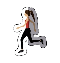 Isolated girl doing exercise design vector