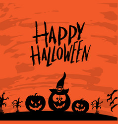 Art card for happy halloweendesign template for vector