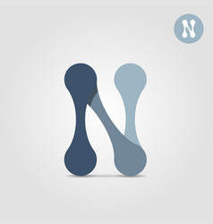 N letter icon concept of internet network vector