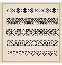 Set of seamless borders vector image