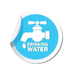 drinking water BLUE LABEL vector image